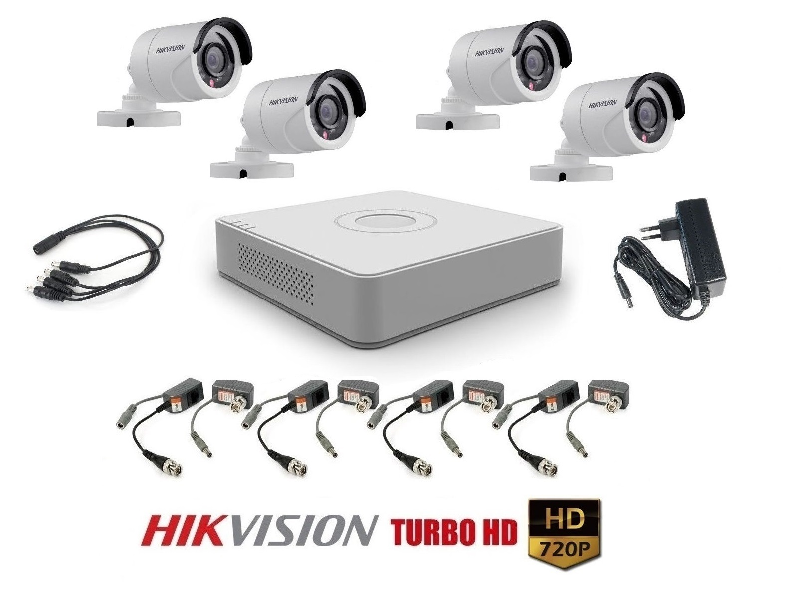 4 kamerový set HIKVISION HD-TVI HD 720p START