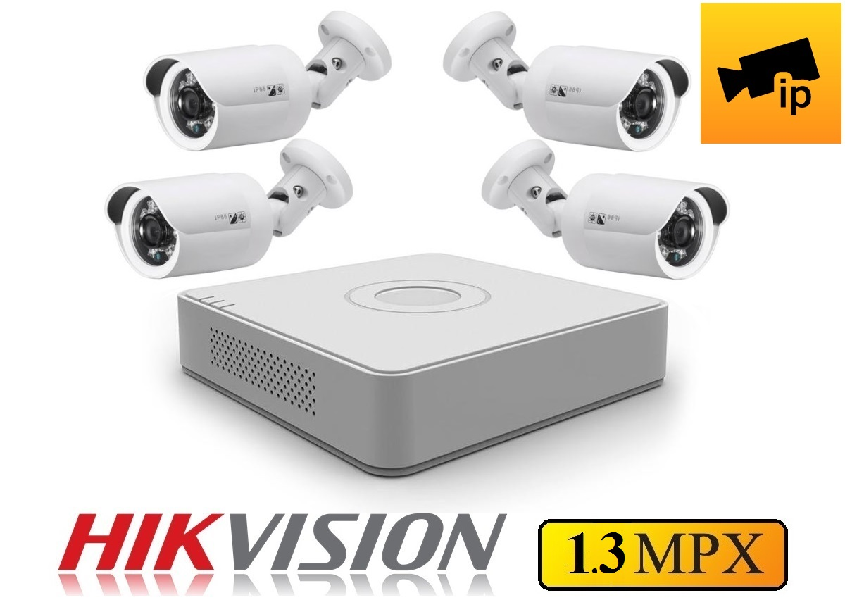 4 kamerový IP set HIKVISION 1.3Mpx 3,6mm